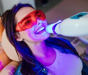 Professional teeth whitening